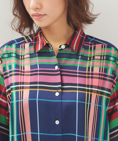 マルチチェックBIGシャツ