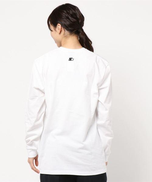 (STARTER)ロゴプリントロングスリーブTシャツ