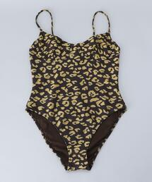 <SOLID&STRIPED>LEOPARD PRINT ONE PIECE/スイムウェア
