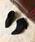 menue(メヌエ)の「選べる 内側ふかふかファータイプ ポインテッドトゥ 5cm ヒール ショートブーツ サイドジップブーツ 裏起毛ブーツ(ブーツ)」|ブラック系その他3