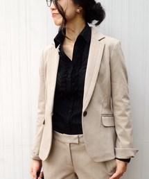 NARACAMICIE(ナラカミーチェ)の【セットアップスーツ対応】ポンチテーラードジャケット(スーツジャケット)