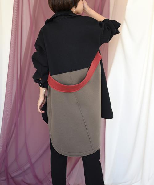【Eimee Law】ボンディング配色シャツジャケット