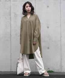 9e8054998b9bb シャツワンピース(グリーン・カーキ 緑色系)ファッション通販 - ZOZOTOWN