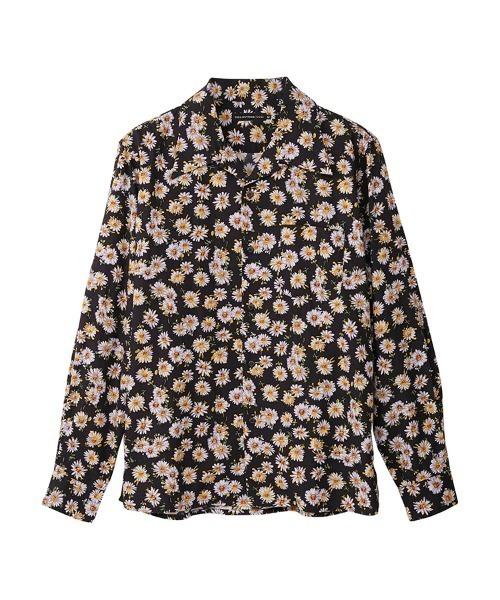 DAISY SKULL柄 オープンカラーシャツ