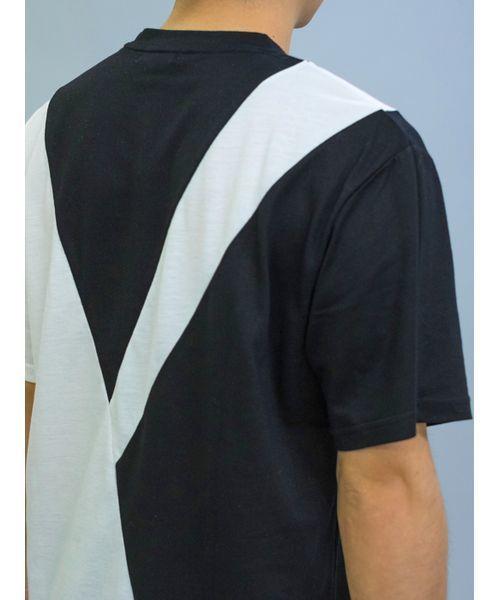 バイアス切り替えBIGシルエットTシャツ オーバーサイズ ユニセックス