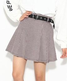 PINK-latte(ピンク ラテ)の★ニコラ掲載★ハートバックルベルト付プリーツスカート(スカート)