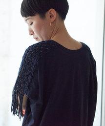 nitca(ニトカ)の40/-ハイゲージ天竺 マクラメ編みワンピース(ワンピース)