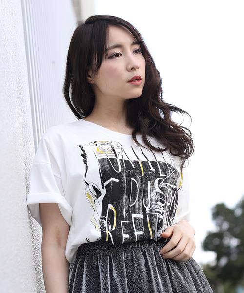 ラメプリントBIG Tシャツ