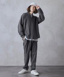 【セットアップ】USAコットン CPO オーバーサイズ レギュラーカラー/スキッパーバンドカラーシャツ&シェフパンツグレー系その他2