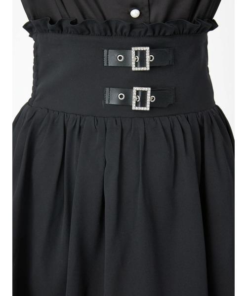 Ank Rouge(アンクルージュ)の「ベルトギャザースカート(スカート)」 詳細画像