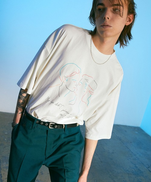 ビッグシルエット コットン天竺 イラストアート&フォト転写 半袖カットソー EMMA CLOTHES 2021SUMMER