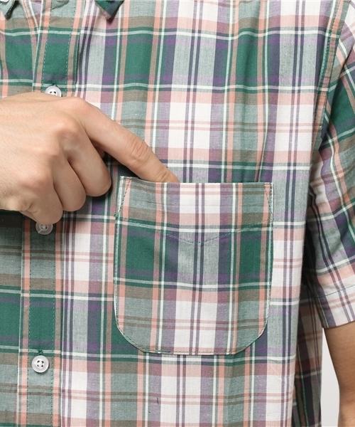 【N-BURNER SELECT】タータンチェック半袖シャツ
