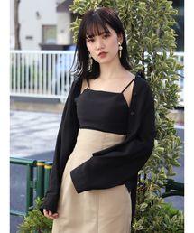 MURUA(ムルーア)のシースルーシャツ×キャミセット(シャツ/ブラウス)