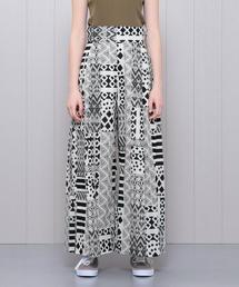 <H>AFRICAN PRINT BUGGY PANTS/パンツ