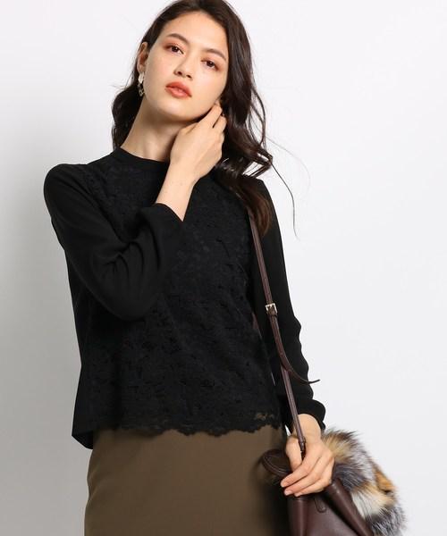 海外並行輸入正規品 [L]ダブルジョーゼットレースシャツ(シャツ/ブラウス)|INDIVI(インディヴィ)のファッション通販, 上山市:7adac50b --- kredo24.ru