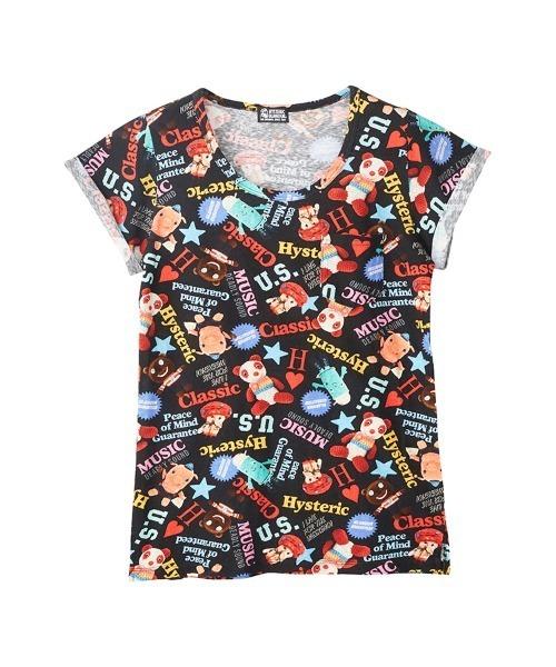 YOKO DOLL MIX柄 ポケット付きTシャツ