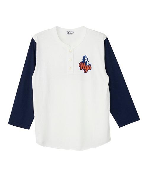 HYS NINERSヘンリーネック 7分袖Tシャツ