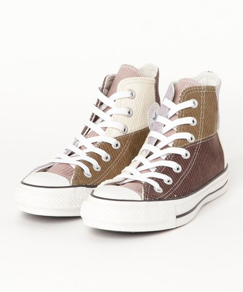 CONVERSE コンバース AS 100 MULTICORDUROY HI 31303131 GRAY BROWN