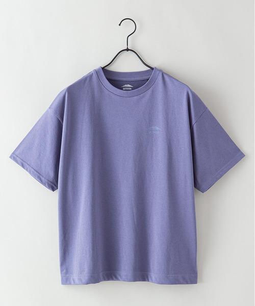 DRY(速乾機能)ワンポイントブランドロゴビッグシルエットTシャツ