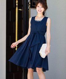 Fashion Letter(ファッションレター)のウエストリボン パールビジュー付き パーディードレス(ドレス)