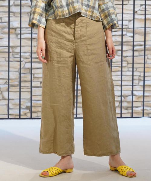 【全商品オープニング価格 特別価格】 リネン セミワイドクロップドパンツ(パンツ) GALERIE|GALERIE VIE(ギャルリー ヴィー)のファッション通販, ヤマノウチマチ:04ae3099 --- seed.getarkin.de