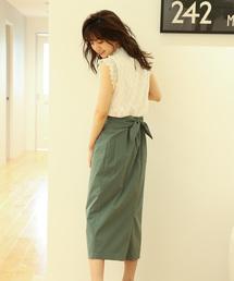 PROPORTION BODY DRESSING(プロポーションボディドレッシング)のリボンロングタイトスカート(スカート)