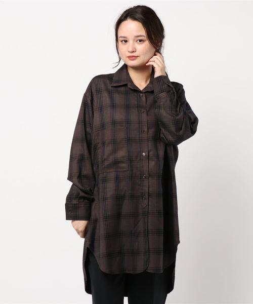 【新発売】 チェックビッグシャツ2(シャツ/ブラウス)|DouDou(ドゥドゥ)のファッション通販, m0851Webstore:470e59e5 --- pyme.pe