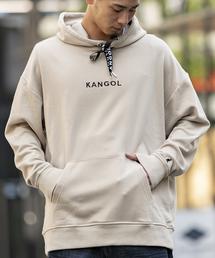 KANGOL(カンゴール)の【KANGOL×A.S.M コラボ】 オーバーサイズ ロゴ 刺繍 プルオーバー ビッグ パーカー KANGOL(パーカー)