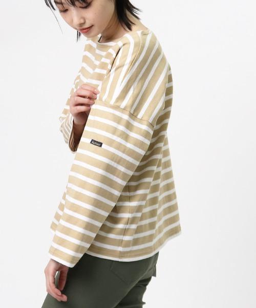 【Le minor/ ルミノア】プチ コパン ボーダードロップショルダーTシャツ