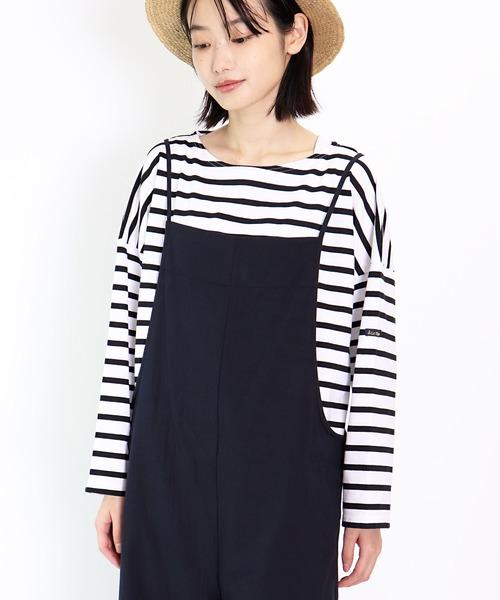 【Le minor/ ルミノア】PETIT COPAIN ボーダードロップショルダーTシャツ