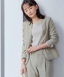 [ 手洗い可能 / カチリラ ] ◆D ノーラペル ジャケット -JJSP ◇No05◇ <34-46サイズ>
