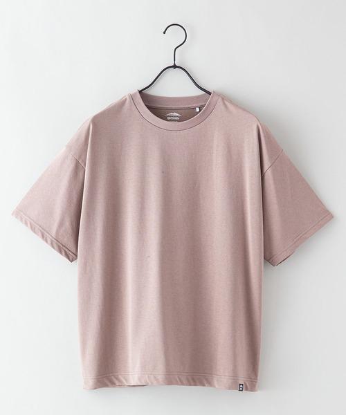 DRY(速乾機能)ピスネーム無地ビッグシルエットTシャツ