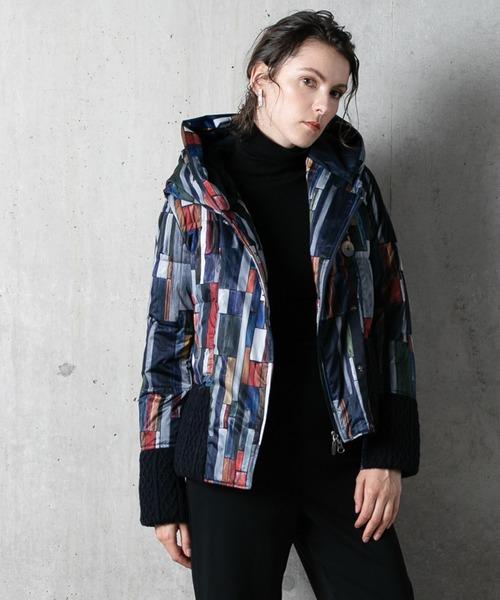 YOSOOU(ヨソオウ)の「Knit Pocket Jacket/ニットポケットジャケット(ダウンジャケット/コート)」|マルチ