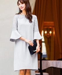 Fashion Letter(ファッションレター)のベルスリーブ Aラインワンピース ドレス(ドレス)