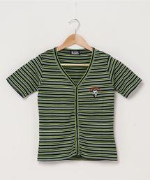 SKULL PANDA刺繍 カーディガンブラック