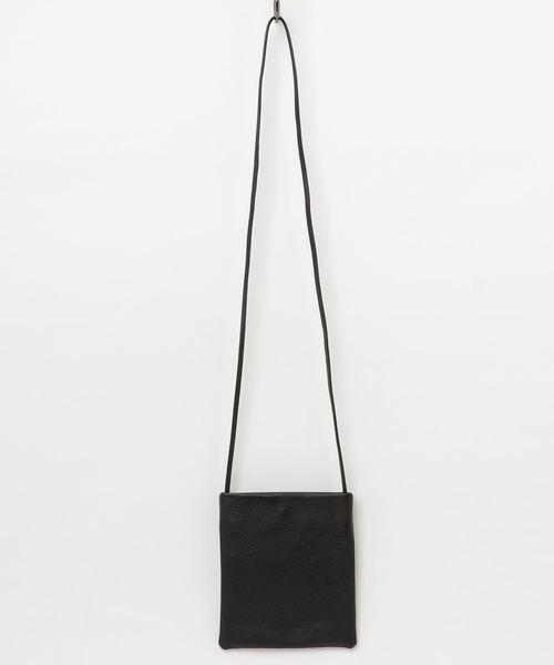 TASINAMI 日本製 Leather  Initial Embroidery Mini  Shoulder Bag