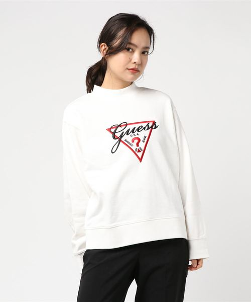 TRIANGLE LOGO MOCKNECK SWEAT