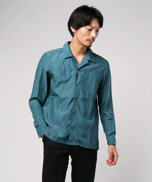 ファッションデザイナー KAZUYUKI KUMAGAI ATTACHMENT(カズユキクガマイ アタッチメント)ローンオープンカラーシャツ/KS92-005, ヒガシオキタマグン d21ea0e6