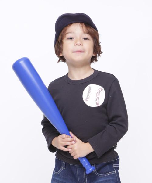 野球ミニ裏毛ロングTシャツ