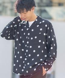 improves(インプローブス)のドット柄長袖開襟レーヨンシャツ(シャツ/ブラウス)