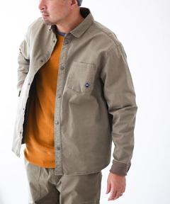 ストレッチヘリンボーン シャツジャケット