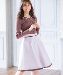 MISCH MASCH(ミッシュマッシュ)のビット配色フレアースカート(スカート)