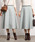 ROPE'(ロペ)の「【19AW】ウールリバーシブルフレアスカート(スカート)」|ライトグリーン