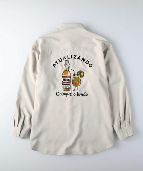 BACK NUMBER(バックナンバー)の「【BACK NUMBER】刺繍ビッグシルエットシャツ(シャツ/ブラウス)」|オフホワイト