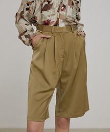 【UNSPOKEN】Two-tuck shorts UX20K002chwベージュ