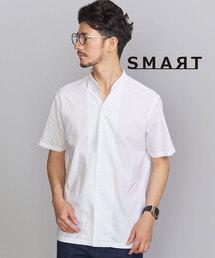 【WEB限定 WARDROBE SMART】by シャンブレー バンドカラースキッパー シャツ