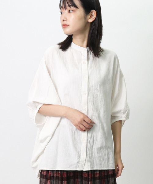 【 D*g*y / ディージーワイ 】綿オックスワッシャー  ブラウス シャツ DEC D8541