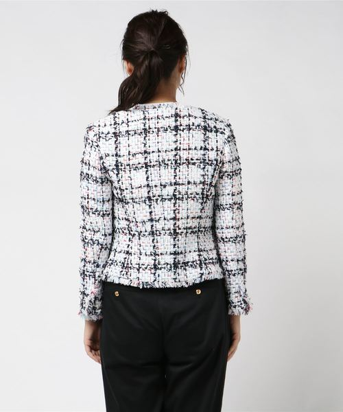 《Maglie collection》ノーカラーツイードジャケット