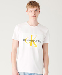【CALVIN KLEIN JEANS】モノグラム ロゴ スリム Tシャツ(Tシャツ/カットソー)