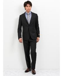 エムエフエディトリアルメンズ/m.f.editorial:Men×ATSURO TAYAMA ロロ ピアーナ/Loro Piana 無地チャコールグレー 2ピース ビジネスセットアップスーツ(セットアップ)